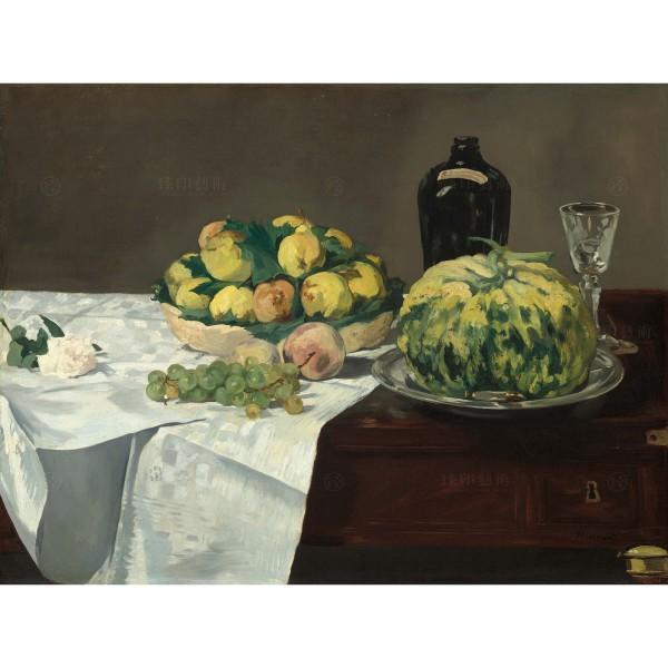Still Life with Melon and Peaches, Édouard Manet, Giclée