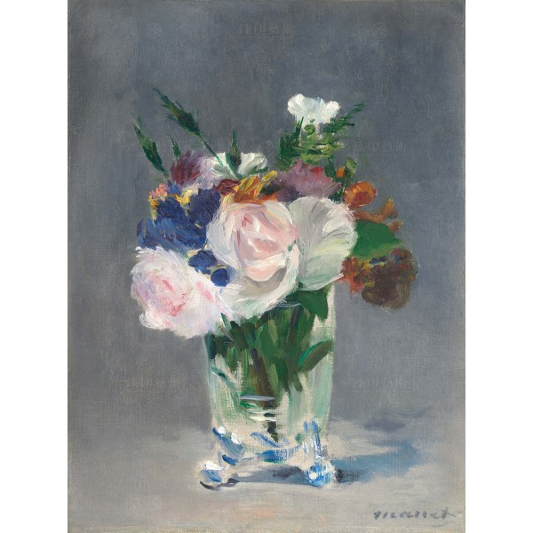Flowers in a Crystal Vase, Édouard Manet, Giclée