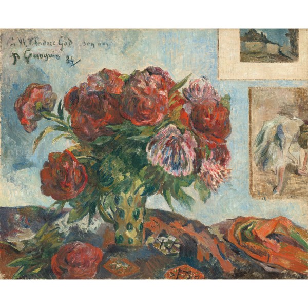 Still Life with Peonies, Paul Gauguin, Giclée