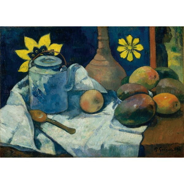 Still Life with Teapot and Fruit, Gauguin Paul, Giclée