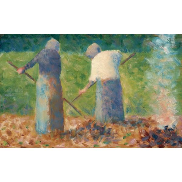 Haymakers at Montfermeil, Georges Seurat, Giclée