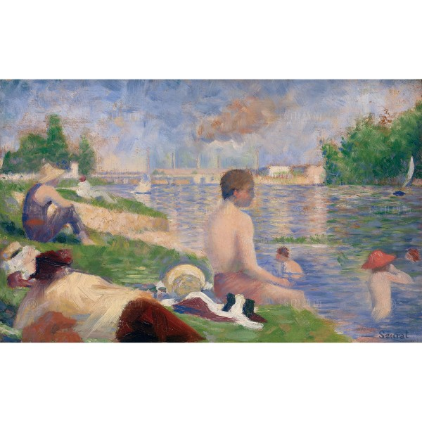 "Final Study for ""Bathers at Asnières"", Georges Seurat, Giclée"
