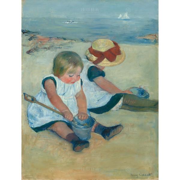 Children Playing on the Beach, Mary Cassatt, Giclée