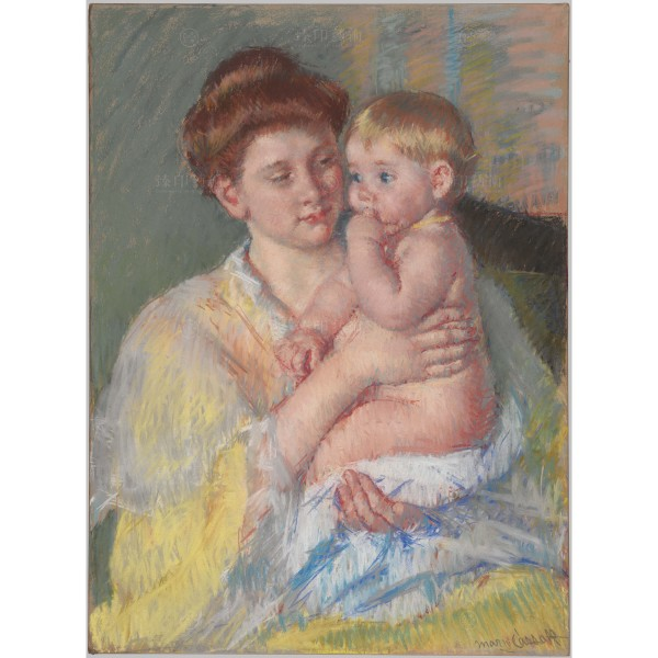 Baby John with Forefinger in His Mouth,Mary Cassatt, Giclée