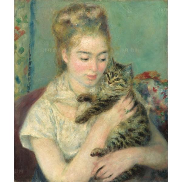 Woman with a Cat, Auguste Renoir, Giclée