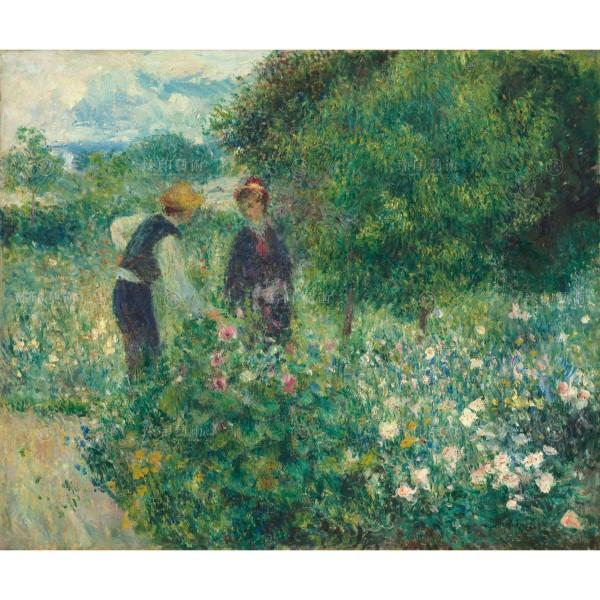 Picking Flowers, Auguste Renoir, Giclée