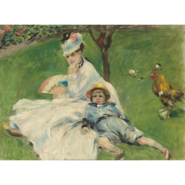 Madame Monet and Her Son, Auguste Renoir, Giclée