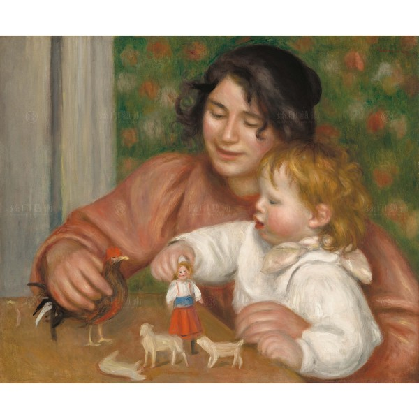 Child with Toys - Gabrielle and the Artist'sSon, Jean, Pierre-Auguste Renoir, Giclée