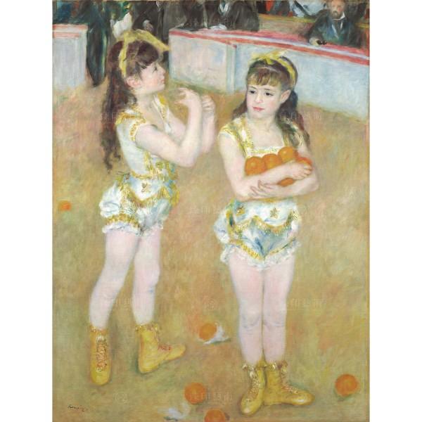 Acrobats at the Cirque Fernando (Franciscaand Angelina Wartenberg), Auguste Renoir, Giclée