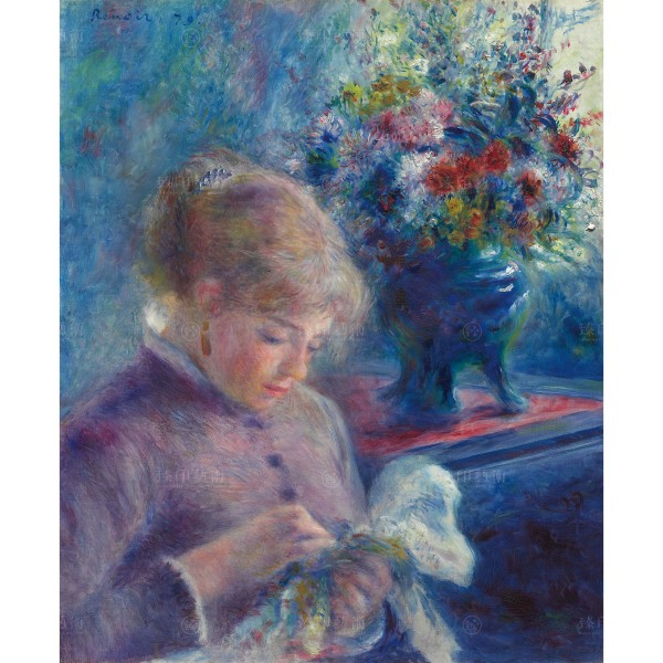Young Woman Sewing, Auguste Renoir, Giclée
