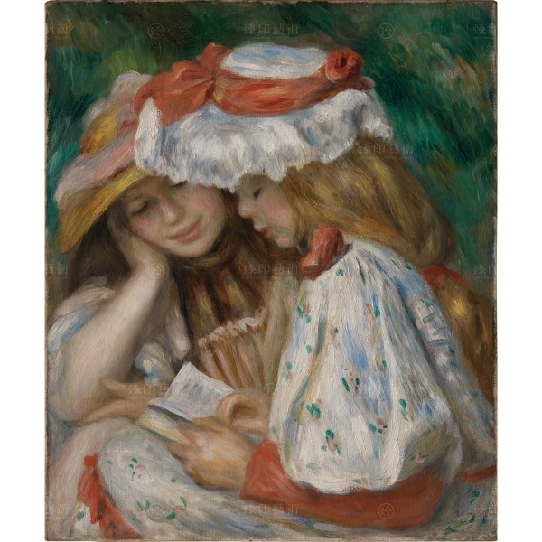 Two Girls Reading, Auguste Renoir, Giclée