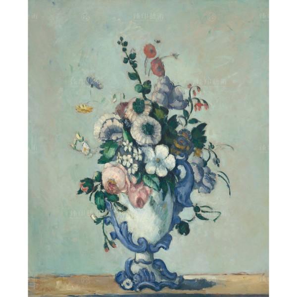 Flowers in a Rococo Vase, Paul Cézanne, Giclée