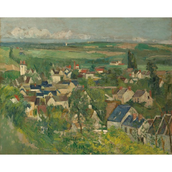 Auvers, Panoramic View, Paul Cézanne, Giclée