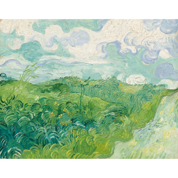 Green Wheat Fields, Auvers,Vincent Van Gogh, Giclée