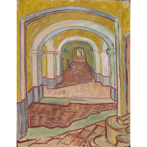 Corridor in the Asylum, Vincent Van Gogh, Giclée